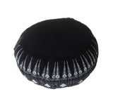 Thai Kapok Zafu Yoga Meditation Cushion B (Black Batik)
