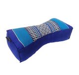 Kapok Chinese Neck Support Pillow ~ Light Blue Dark Blue