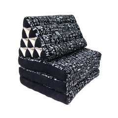 Thai Kapok 3 Fold Mattress with Triangle Cushion ~ Egyptian Hieroglyphics