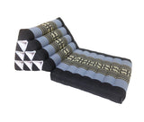 Thai Kapok 1 Fold Meditation Seat with Triangle Cushion (Blue, Navy)