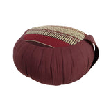 Thai Kapok Zafu Yoga Meditation Cushion A (Burgundy Brown)