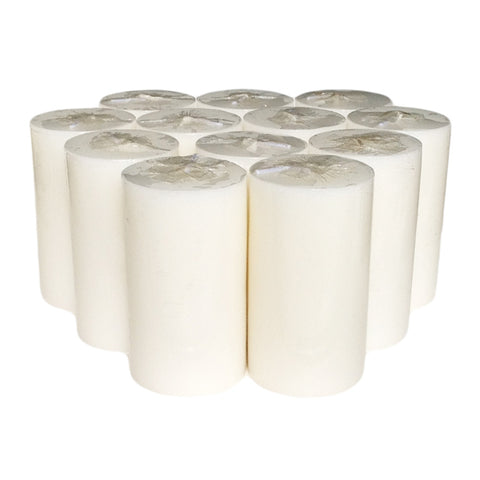 White Pillar Candle size 10 x 5.5cm - Pack of 12