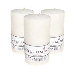 White Pillar Candle size 10 x 5.5cm - Pack of 3