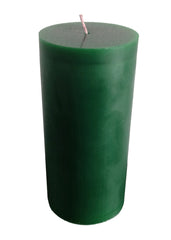Forest Green Pillar Candle size 15 x 7cm