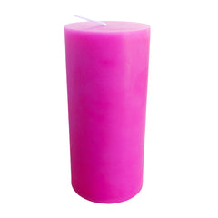 Hot Pink Pillar Candle size 15 x 7cm