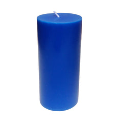 Royal Blue Pillar Candle size 15 x 7cm