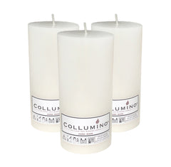 White Pillar Candle size 15 x 7cm - Pack of 3
