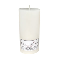 White Pillar Candle size 15 x 7cm