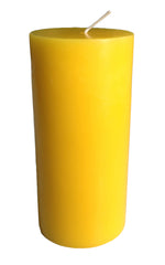 Yellow Pillar Candle size 15 x 7cm