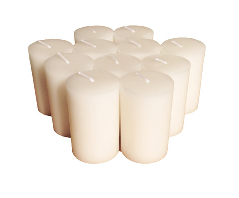 White Pillar Candle size 7 x 4.3cm - Pack of 12