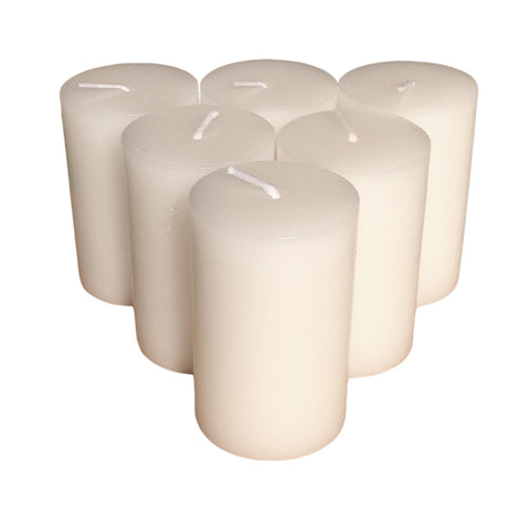 White Pillar Candle size 7 x 4.3cm - Pack of 6