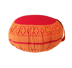 Thai Kapok Zafu Yoga Meditation Cushion B (Orange Red)