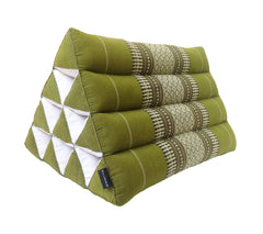Thai Kapok Triangle Recliner Cushion ~ Green