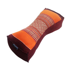 Kapok Chinese Neck Support Pillow ~ Orange Maroon