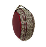 Thai Kapok Zafu Yoga Meditation Cushion B (Burgundy Brown)