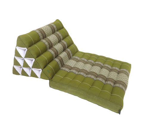 Thai Kapok 1 Fold Meditation Seat with Triangle Cushion ~ Green