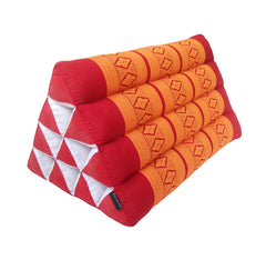 Thai Kapok Triangle Recliner Cushion ~ Orange Red