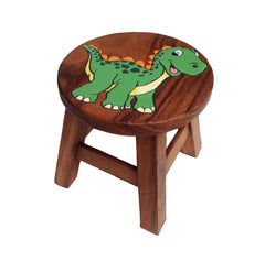 Kids Wooden Step Stool - Cute Dinosaur