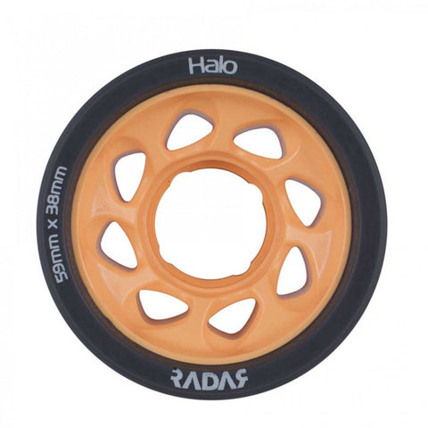 Radar Halo Onyx Grey Urethane Tire with Light Orange Hub - 86A
