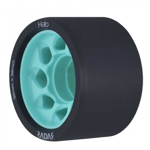Radar Halo Onyx Grey Urethane Tire with Light Teal Hub - 88A
