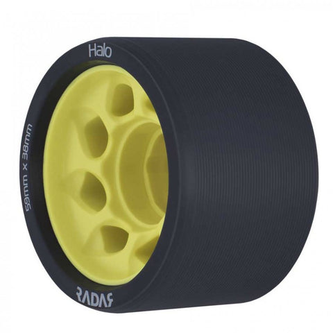 Radar Halo Onyx Grey Urethane Tire with Light Yellow Hub - 91A