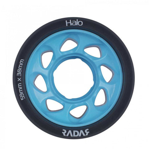 Radar Halo Onyx Grey Urethane Tire with Light Blue Hub - 95A