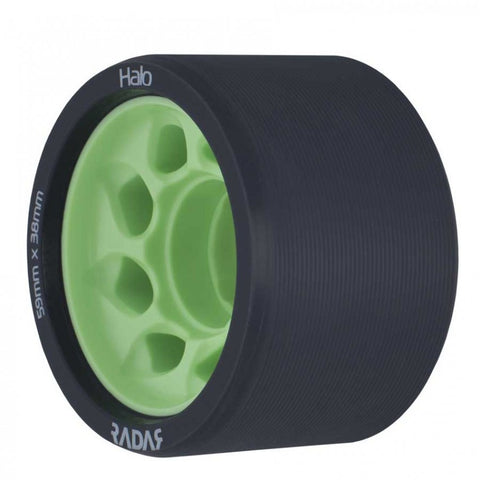 Radar Halo ​Onyx Grey Urethane Tire with Light Green Hub - 97A