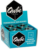 QUBE - Teal Bearings (16 pack) - California Roller Skates