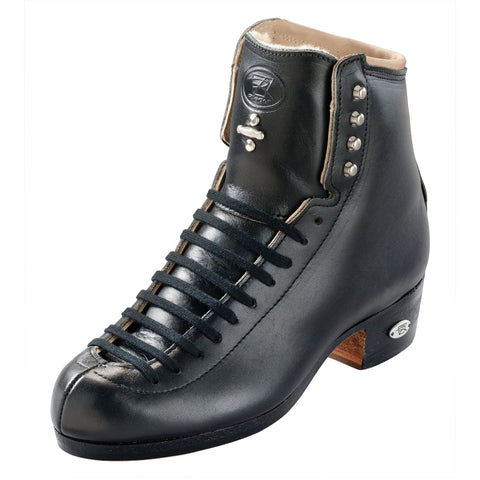 Riedell - High Top Roller Skate Boots - 36J Tribute Black and White - California Roller Skates