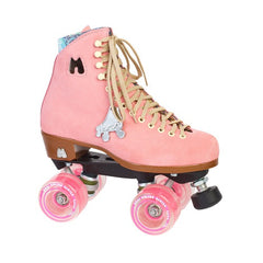Moxi - Lolly Roller Skates - Strawberry - Pink suede - California Roller Skates
