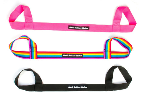 Moxi - Skate Leash - Black, Pink, Rainbow - California Roller Skates