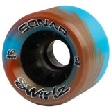 Riedell - Sonar Swirlz (4 pack) - Indoor Recreation Roller Skate Wheels - California Roller Skates