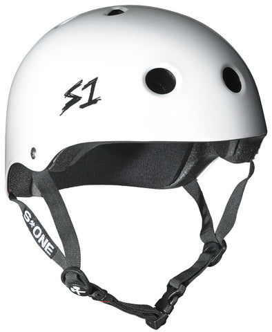 S1 Lifer Helmet - White Gloss - Derby Helmet / Skate Helmet - California Roller Skates