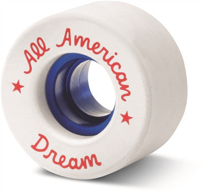 Sure Grip  - All American Plus Dream Roller Skate Wheel - White with Blue insert or Black with silver insert (8 pack) - California Roller Skates