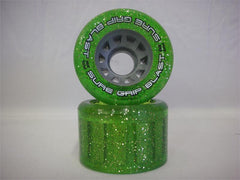 Sure Grip - Blast Green Glitter Roller Skate Wheels - California Roller Skates