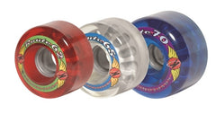 Sure Grip - Route Krypto Outdoor Wheels - Black, Blue, Clear, Red (8 pack) Roller Skate Wheels - California Roller Skates