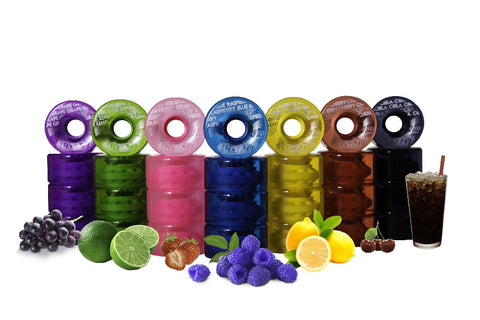 Crazy Skates - Candy Outdoor Roller Skate Wheels (8 Pack) - California Roller Skates