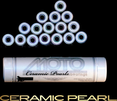 Moto - Ceramic Pearl Bearings (8mm, 16 pack) - California Roller Skates