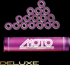 Moto - Deluxe Bearings (8 mm, 16 pack) - California Roller Skates