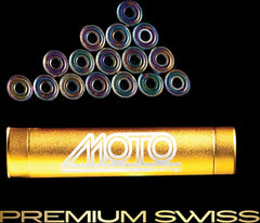 Moto - Premium Swiss Bearings (8mm, 16 pack) - California Roller Skates