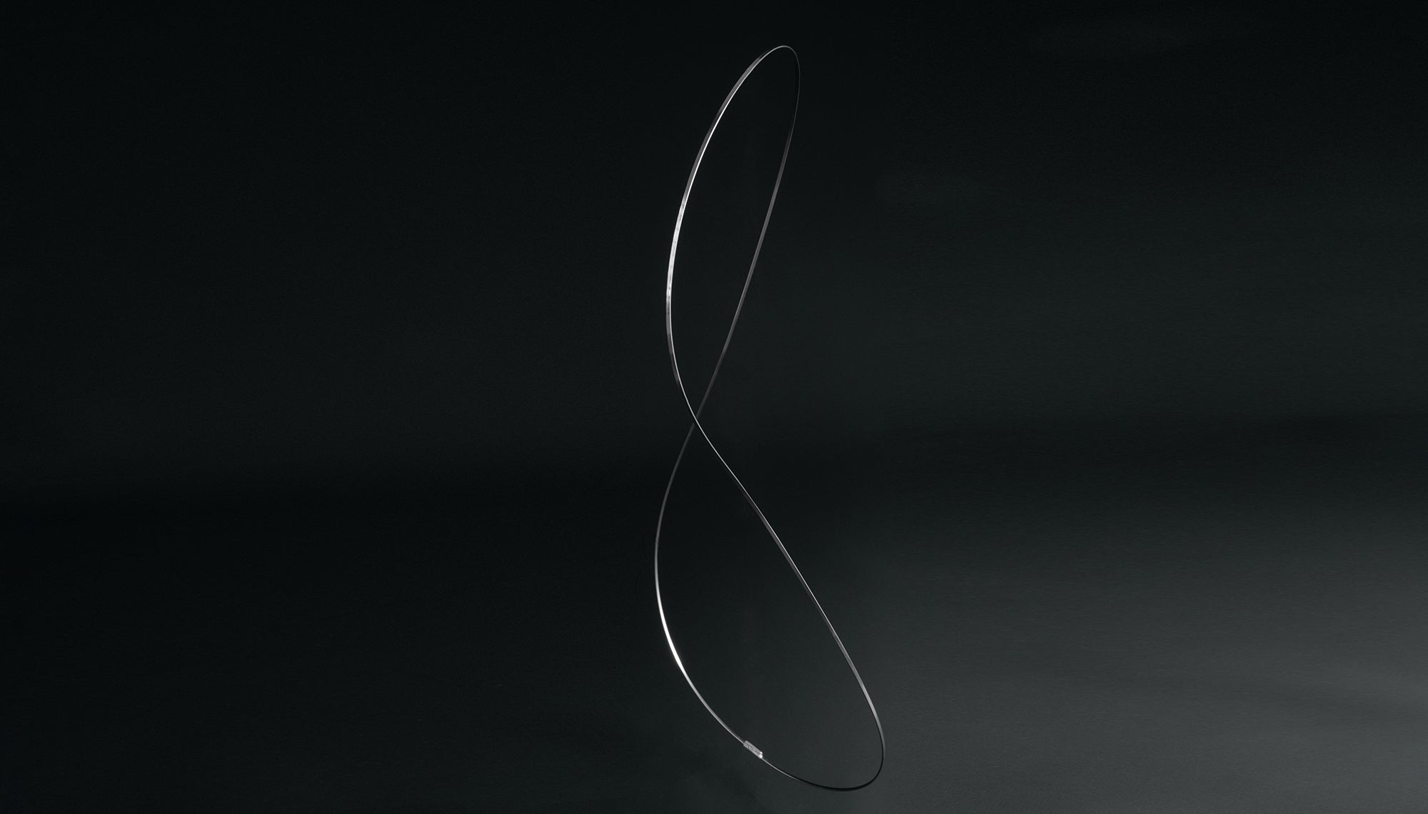 Steel frame twisted into a figure 8