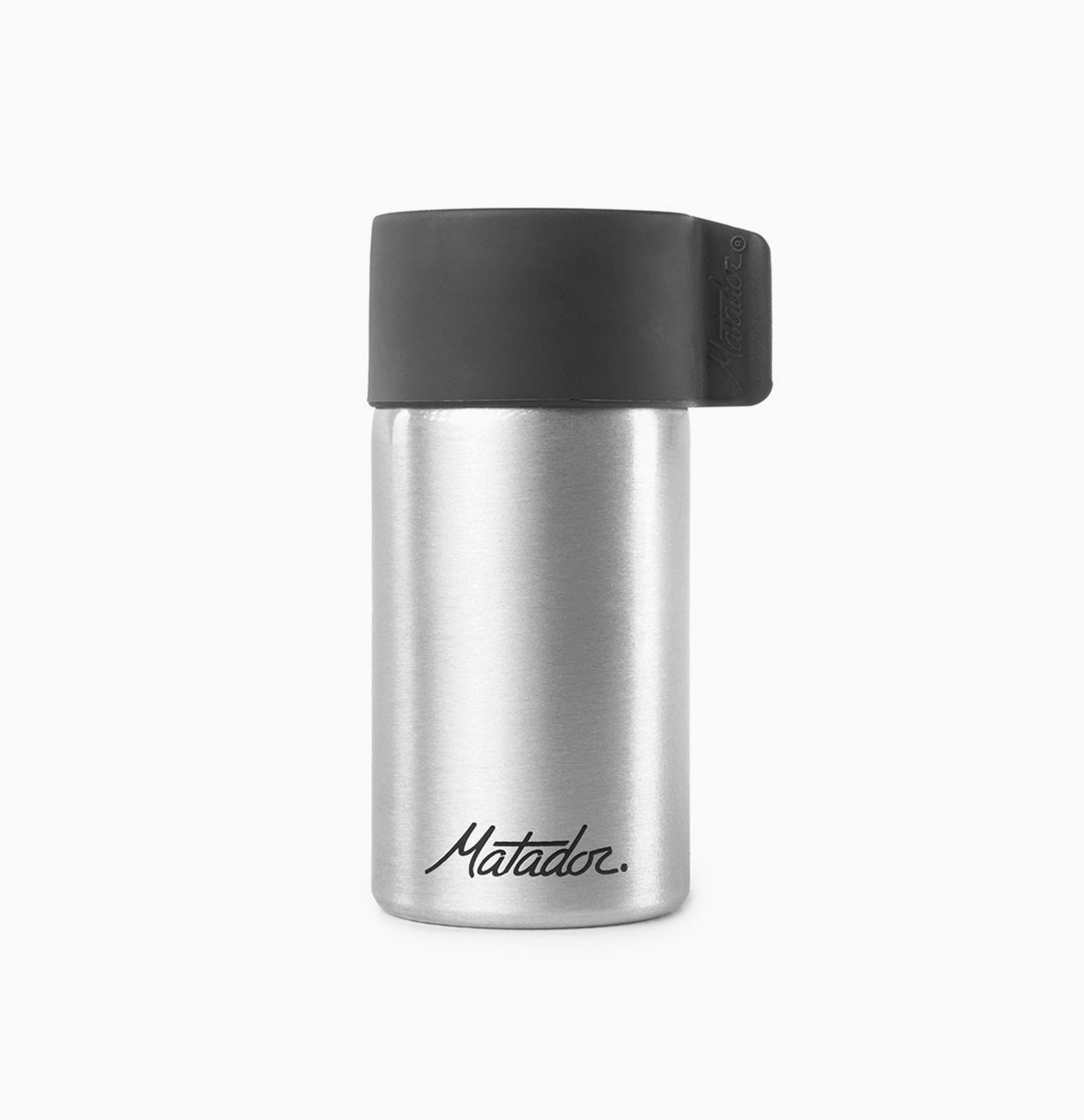 Front view of canister on white background