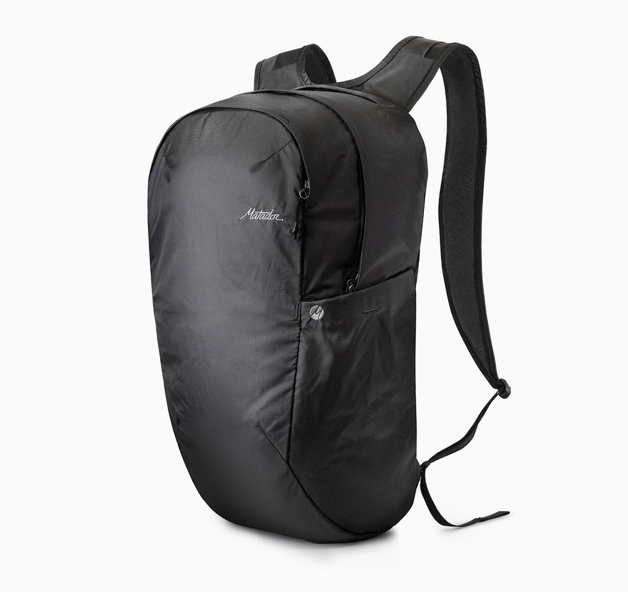 3/4 view of backpack on white background