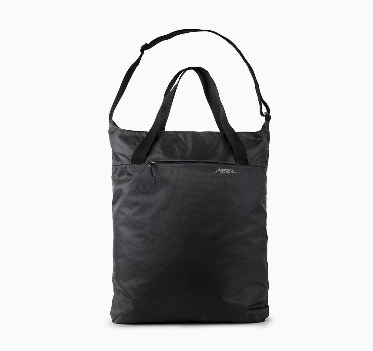 Front view of tote on white background