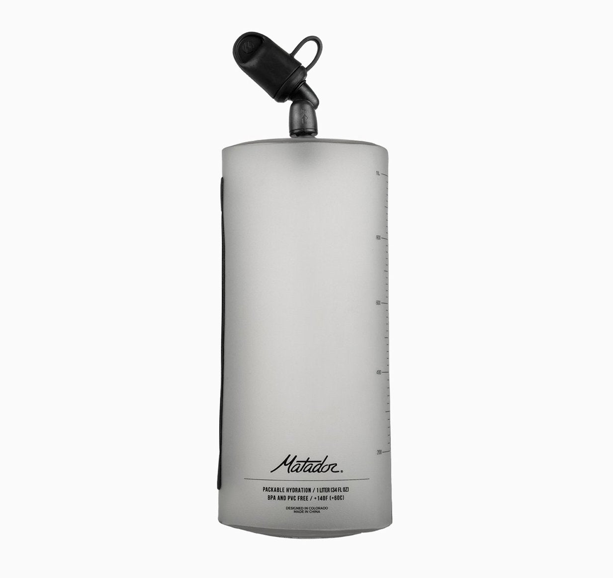 Front view of water bottle white background