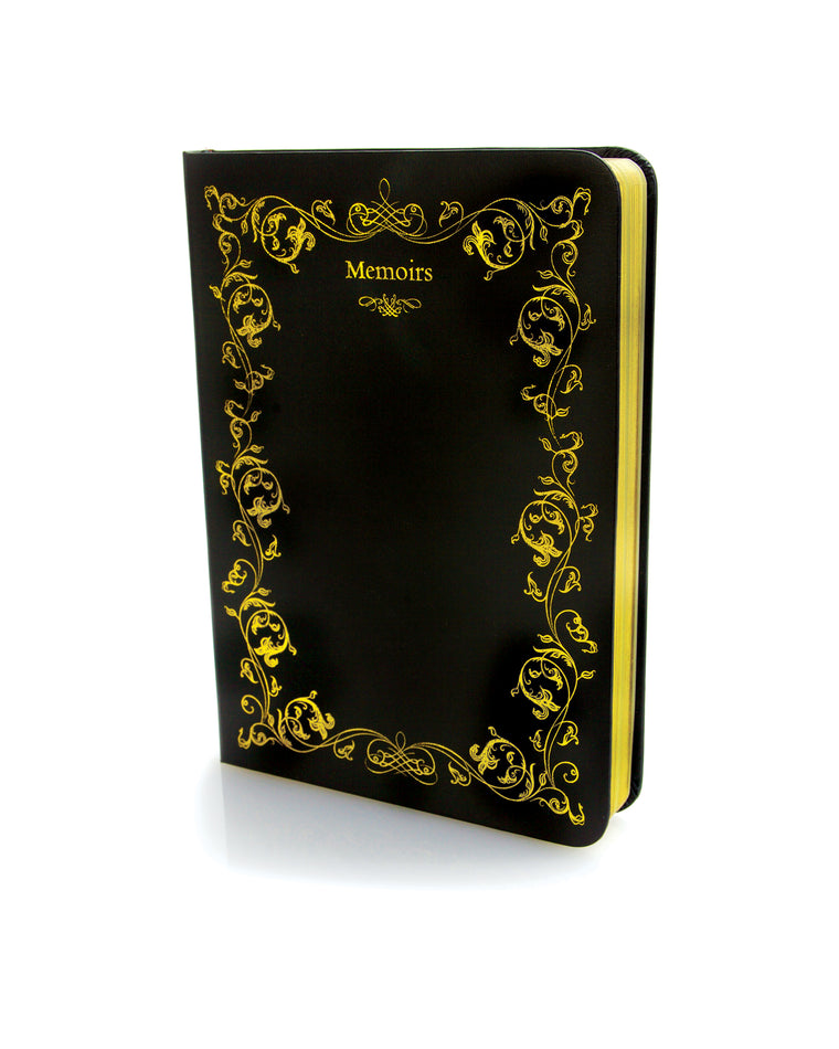 Faux Leather Gold Leaf Notebook