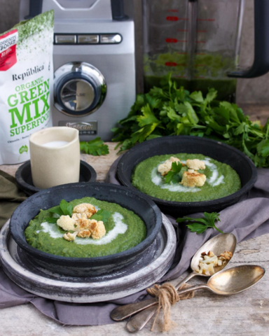 Easy green soup recipe