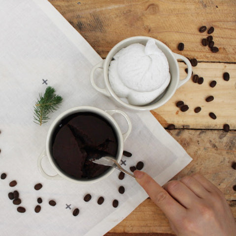 Simple easy organic chocolate coffee mocha mug cake recipe