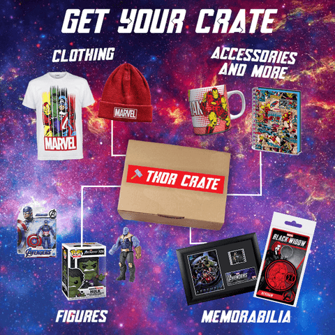 thor crate - perfect gift for marvel fans