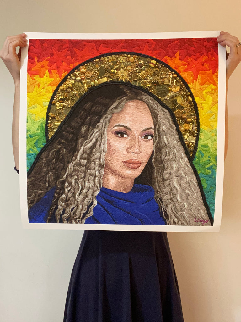 Beyonce Signed Limited Edition by artist Sarah Gwyer - Hatch Limited Editions